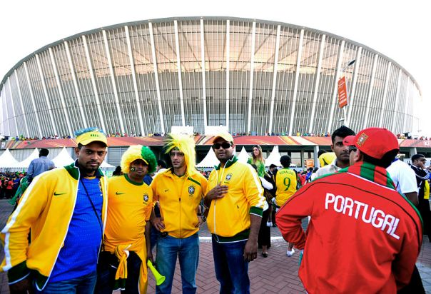 Headers & Volleys Bucket List: Brazil and Portugal fans at World Cup 2010